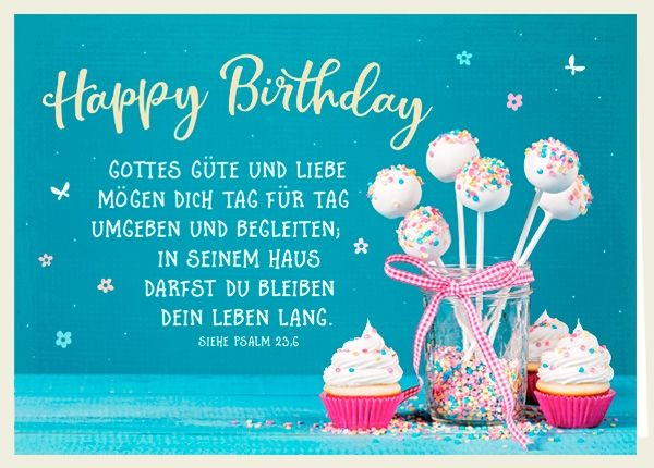Doppelkarte - Happy Birthday - Gottes Güte