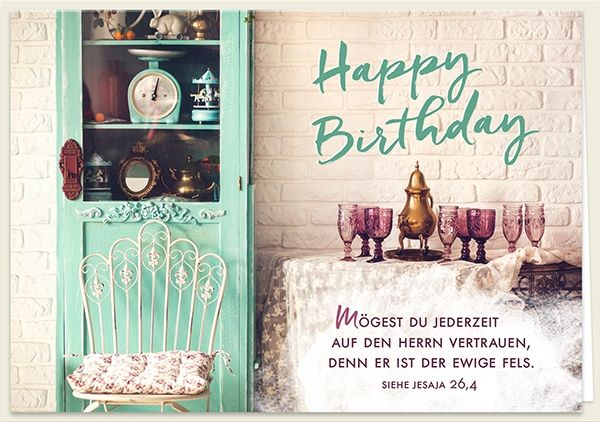 Doppelkarte - Happy Birthday – Mögest du