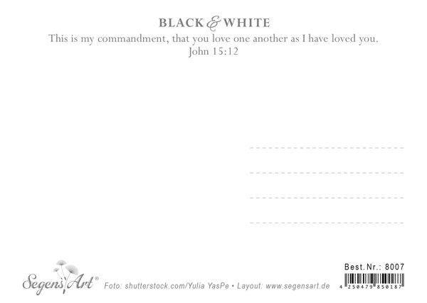 Postkarte Black & White - Love one another